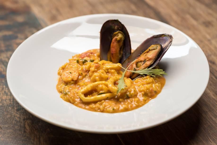 Risoto al mare: prato que compõe menu do jantar no Oliver