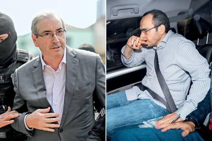 Chefe e Operador – O ex-deputado Eduardo Cunha (à esq.) e o doleiro Lúcio Funaro (à dir.): a parceria no porão do PMDB funcionou durante quase duas décadas
