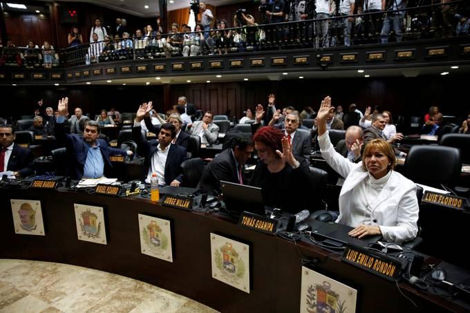 Assembleia Nacional em Caracas, na Venezuela