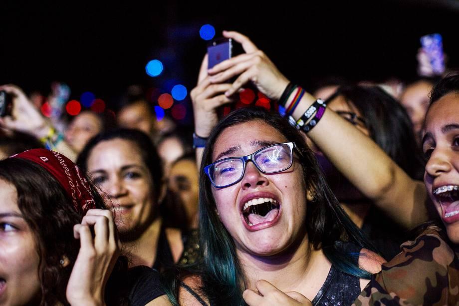 Público durante o show da banda 5 Seconds of Summer no Palco Mundo, no primeiro dia de Rock in Rio - 15/09/2017