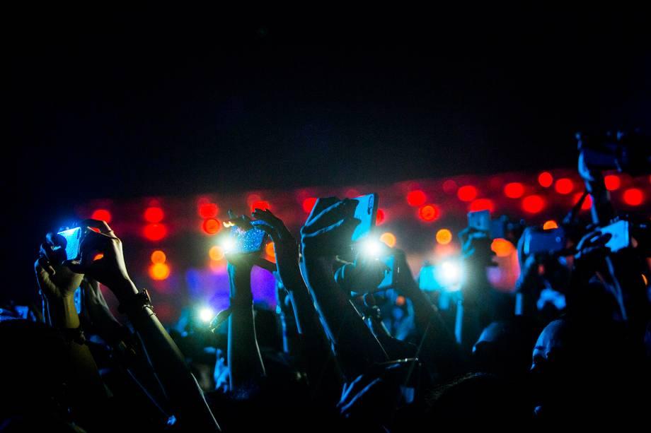 Público durante o show da banda Maroon 5 no segundo dia de Rock in Rio - 16/09/2017