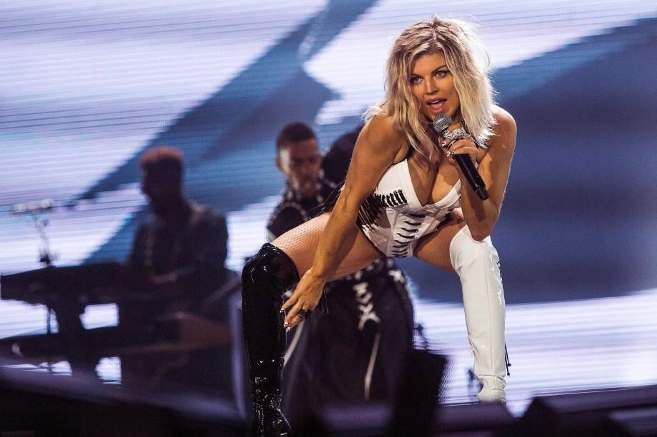 Fergie se apresenta no Palco Mundo, durante o segundo dia da sétima edição do Rock In Rio realizada no Parque Olímpico do Rio de Janeiro, RJ - 16/09/2017