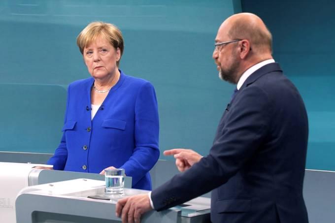 Debate entre Angela Merkel e Martin Schulz, em Berlim