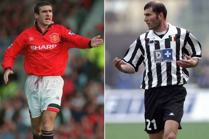 Eric Cantona e Zinedine Zidane