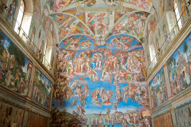 Afrescos de Michelangelo na Capela Sistina no Vaticano