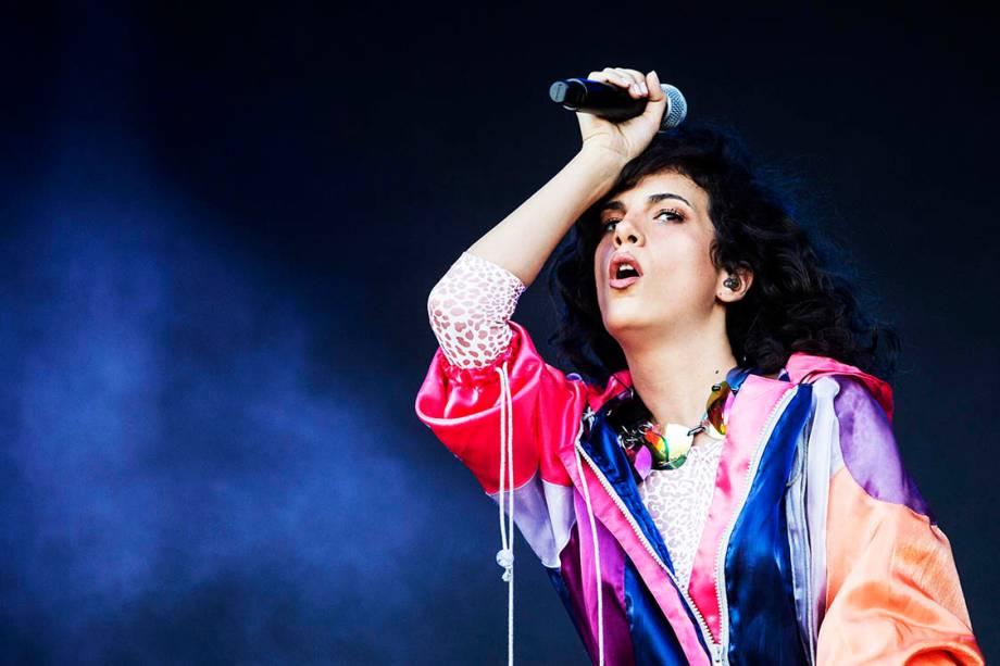 A cantora Céu se apresenta durante o primeiro dia do Rock in Rio - 15/09/2017