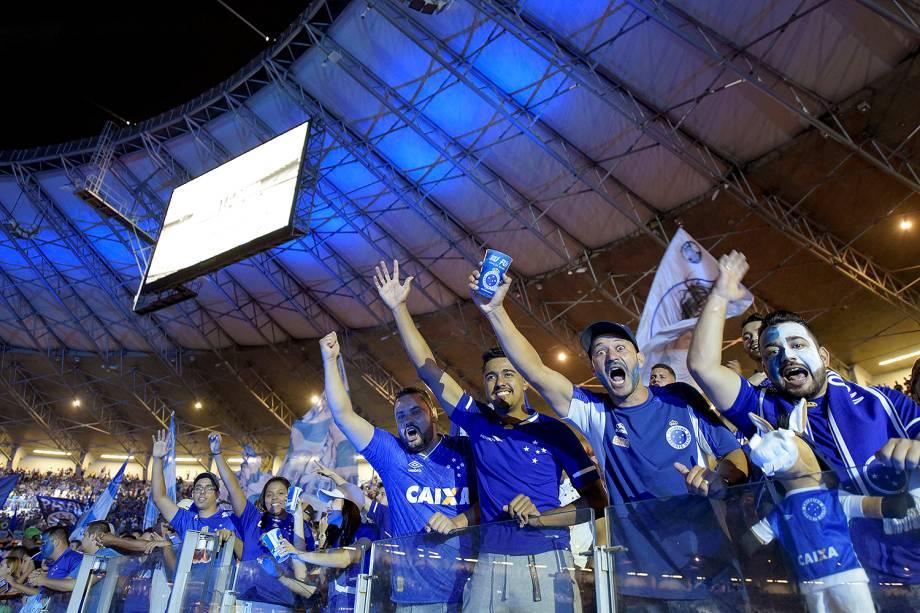 Torcida do Cruzeiro antes da partida contra o Flamengo, válida pela final da Copa do Brasil 2017, no Estádio do Mineirão, em Belo Horizonte (MG) -27/09/2017