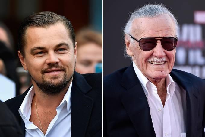 Leonardo Di Caprio e Stan Lee