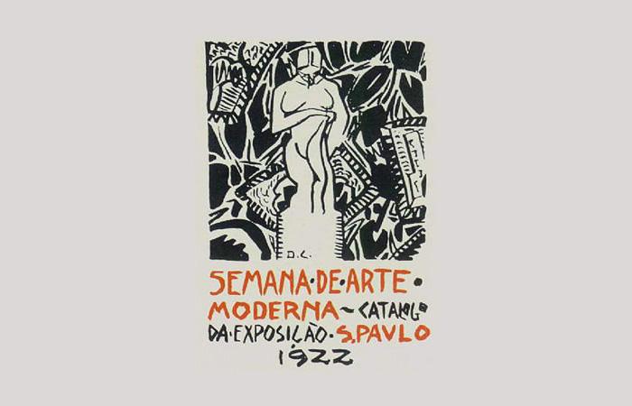 Capa do catálogo foi ilustrada por Di Cavalcanti