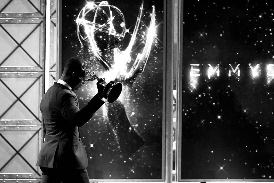 O ator Sterling K. Brown na 69º premiação Emmy Awards, em Los Angeles - 17/09/2017