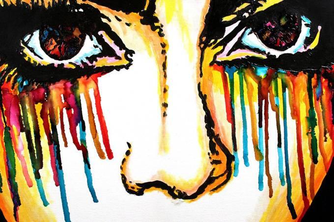 Pintura 'Feeling the Music', do artista John Bramblitt