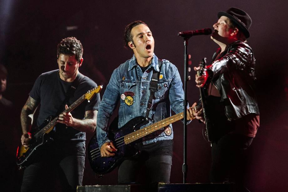 A banda Fall Out Boy se apresenta no palco Mundo,durante o quarto dia da sétima edição do Rock In Rio realizada no Parque Olímpico do Rio de Janeiro, RJ - 21/09/2017