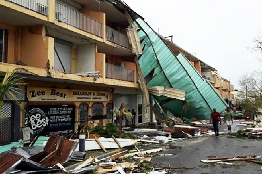 Furacão Irma deixou devastação na Ilha de Saint Martin, no Caribe - 07/09/2017