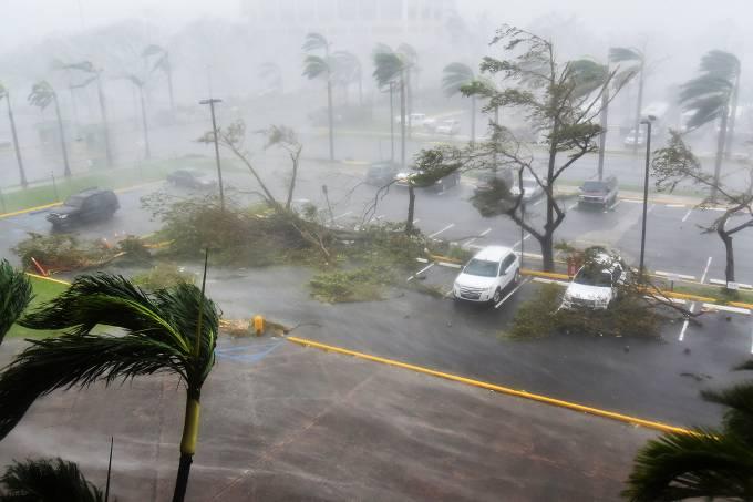 Porto Rico, durante a passagem do furacão Maria – 20/09/2017