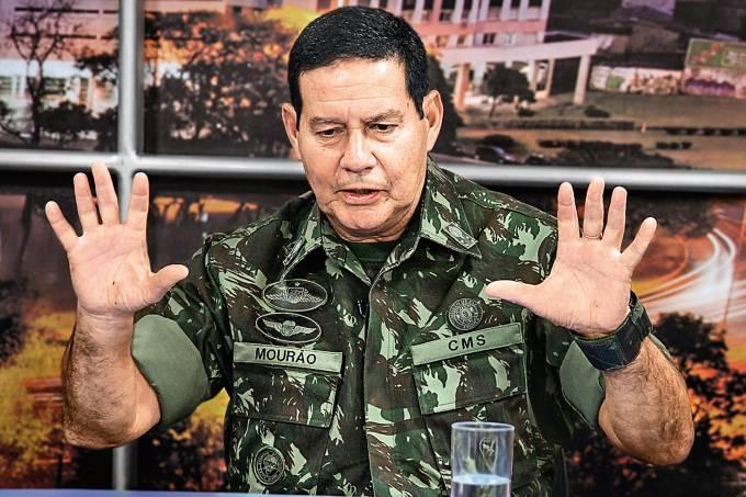 Antônio Hamilton Mourão, candidato a vice na chapa de Jair Bolsonaro à presidência
