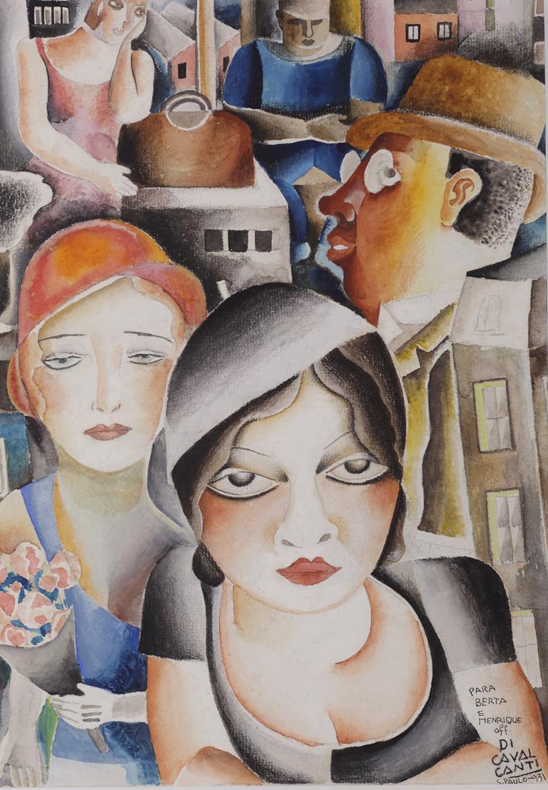 Cena de rua, Emiliano Di Cavalcanti, 1931