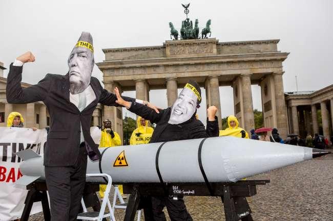Imagens do dia - Protesto na Alemanha