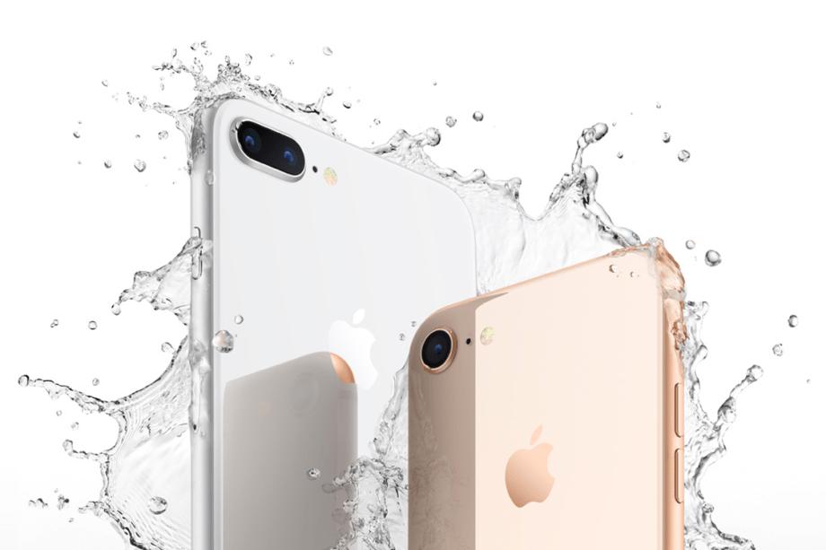O iPhone 8 resiste a água e poeira