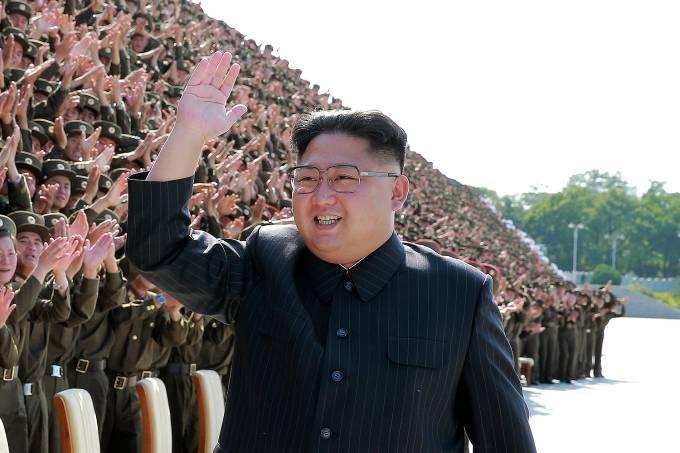 O líder da Coréia do Norte Kim Jong Un