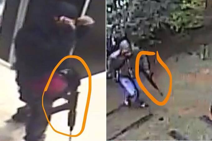 Suspeitos de roubo à residência