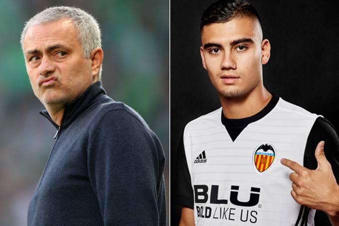 José Mourinho e Andreas Pereira