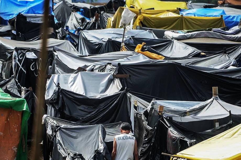 Ocupação do Movimento dos Trabalhadores Sem Teto (MTST) em um terreno em São Bernardo do Campo