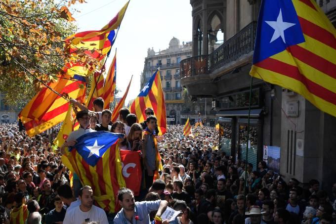 Protestos na Catalunia