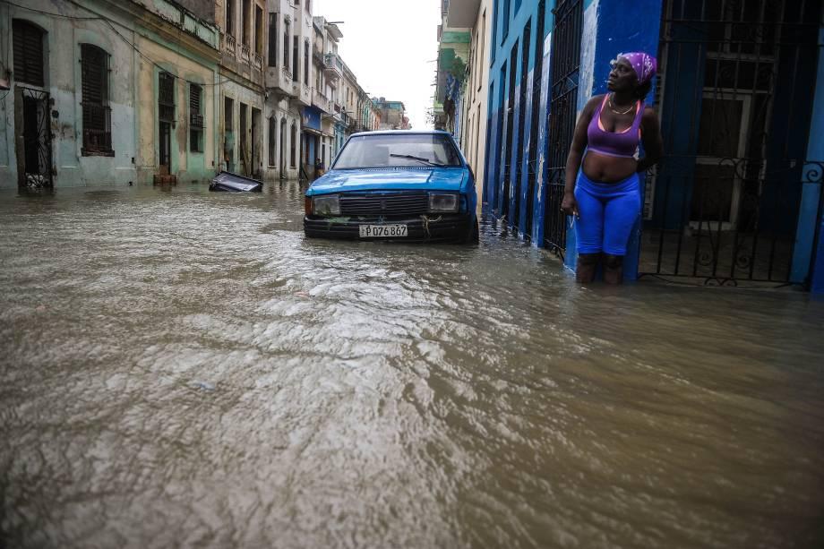 Passagem do furacão Irma deixa as ruas inundadas em Havana, Cuba - 10/09/2017