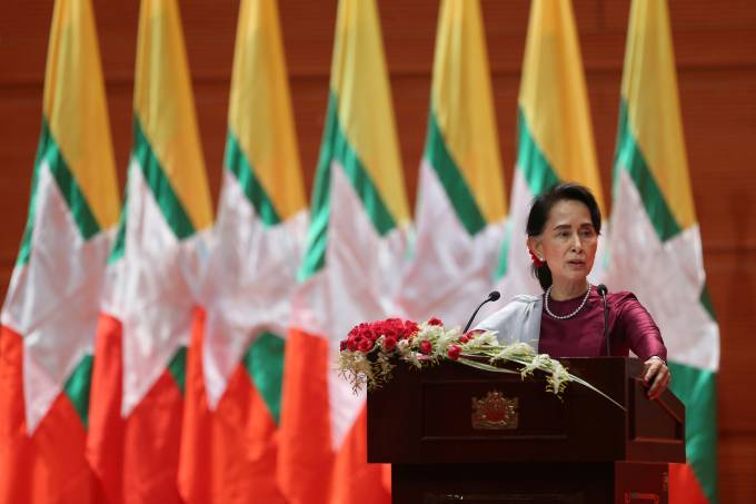 Líder de Myanmar Aung San Suu Kyi