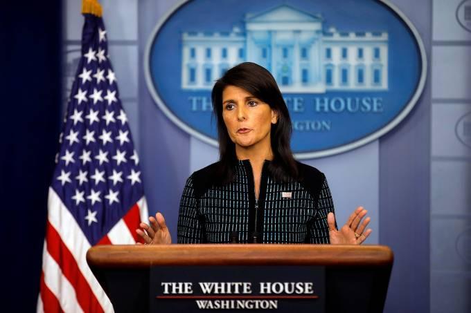 Embaixadora dos Estados Unidos nas Nações Unidas, Nikki Haley