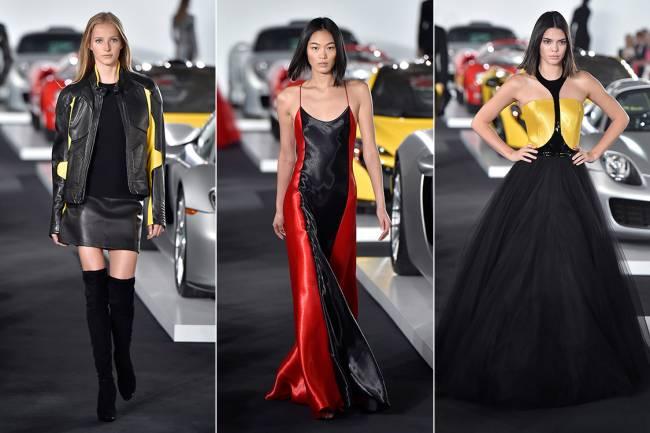 Modelos desfilam com coleção Primavera-Verão da grife Ralph Lauren, durante a Nova York Fashion Week