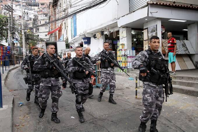 Polícia Militar e Civil fazem uma grande operação na comunidade da Rocinha, no Rio