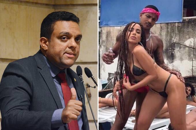 Vereador Otoni de Paula e a cantora Anitta