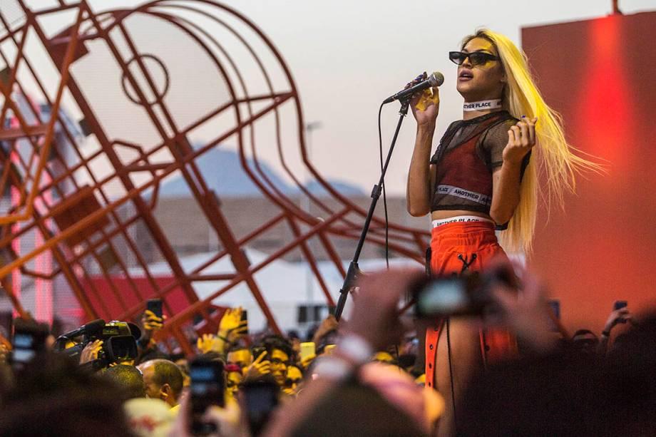 A cantora Pabllo Vittar se apresenta no primeiro dia de Rock in Rio