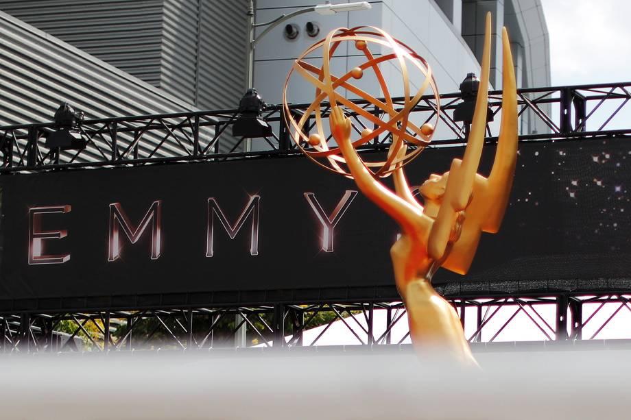Os últimos preparativos para 69º premiação Emmy Awards, em Los Angeles - 17/09/2017
