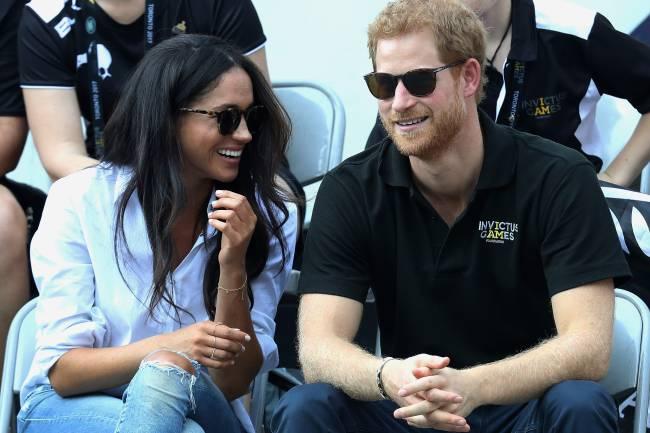 Principe Harry e sua namorada, a atriz Meghan Markle