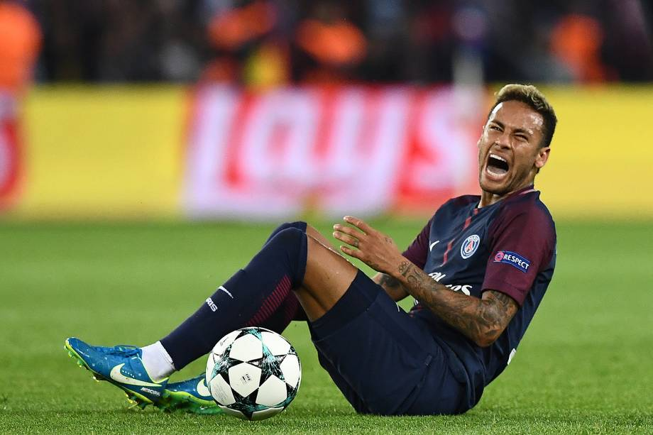 Neymar, do PSG, durante partida contra o Bayern de Munique no estádio Parc des Princes, pela 2ª rodada da fase de grupos da Liga dos Campeões - 27/09/2017
