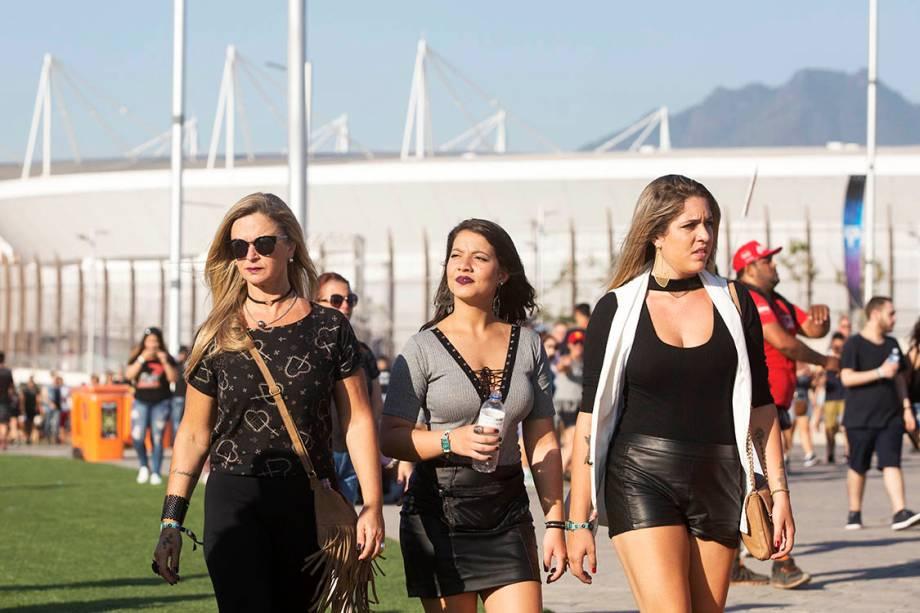 Público durante o primeiro dia do Rock in Rio - 15/09/2017