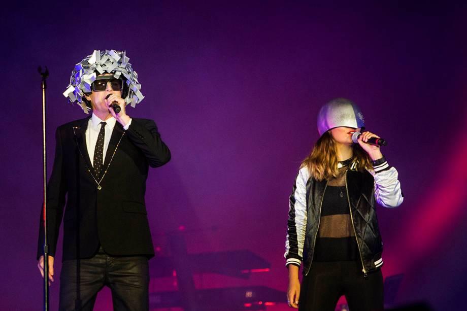 Show do  Pet Shop Boys no Palco Mundo durante o primeiro dia de Rock in Rio - 15/09/2017
