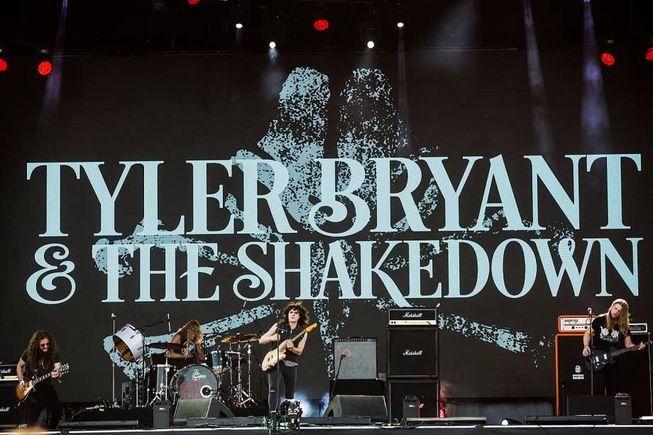 A banda norte-americana Tyler Bryant & The Shakedown é no Palco Sunset, no quarto dia do Rock in Rio 2017, realizado no Parque Olímpico, na Barra da Tijuca, zona oeste da cidade - 21/09/2017