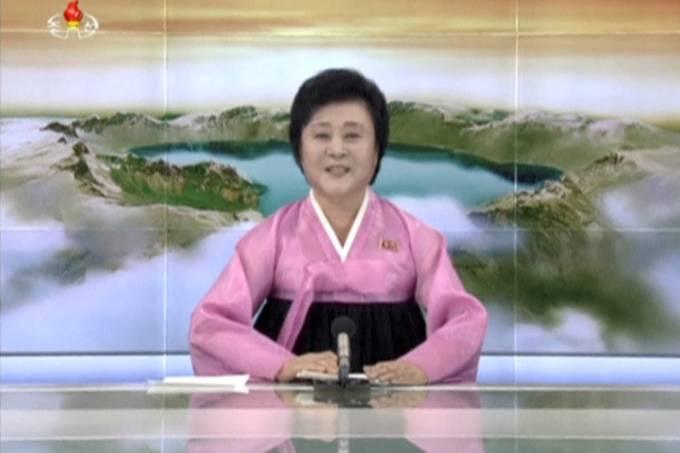 A apresentadora norte-coreana Ri Chun Hee