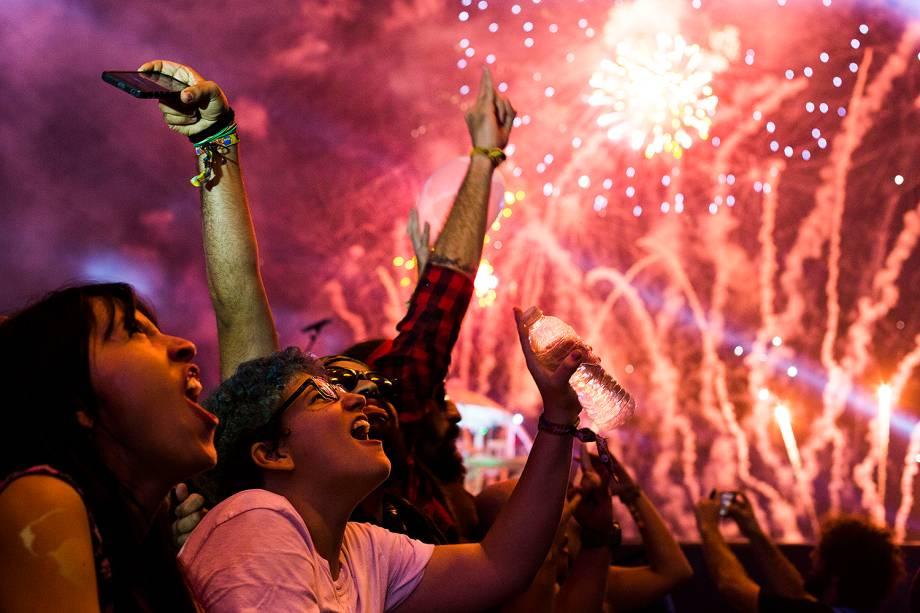 Público durante a 7ª edição do Rock in Rio, no Parque Olímpico, na capital fluminense - 21/09/2017
