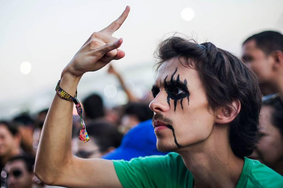Público durante a sétima edição do Rock In Rio realizada no Parque Olímpico do Rio de Janeiro, RJ - 21/09/2017