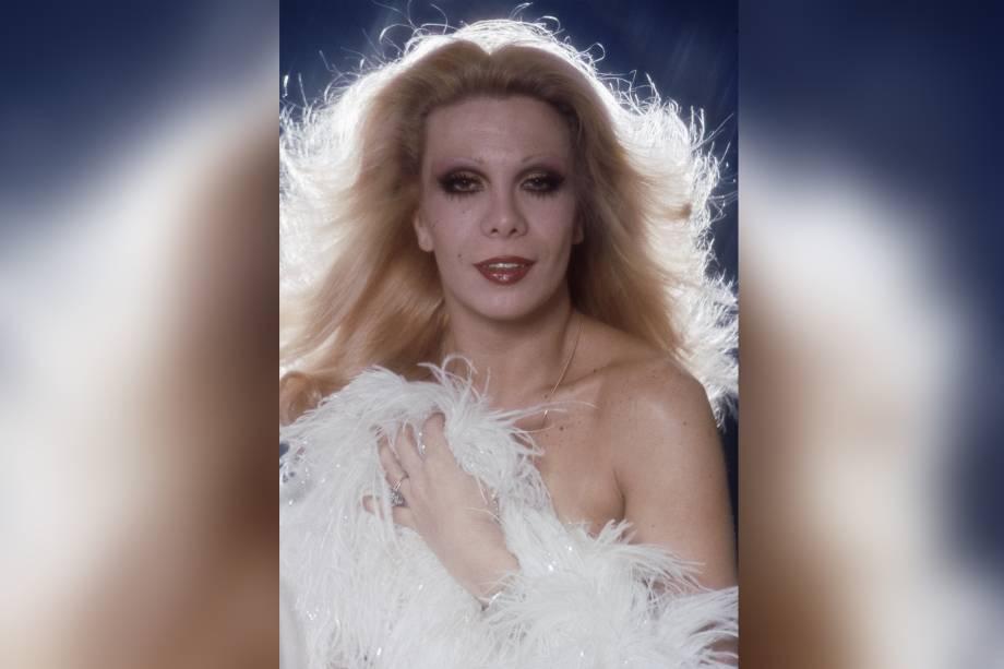 Rogéria em ensaio fotográfico na década de 70