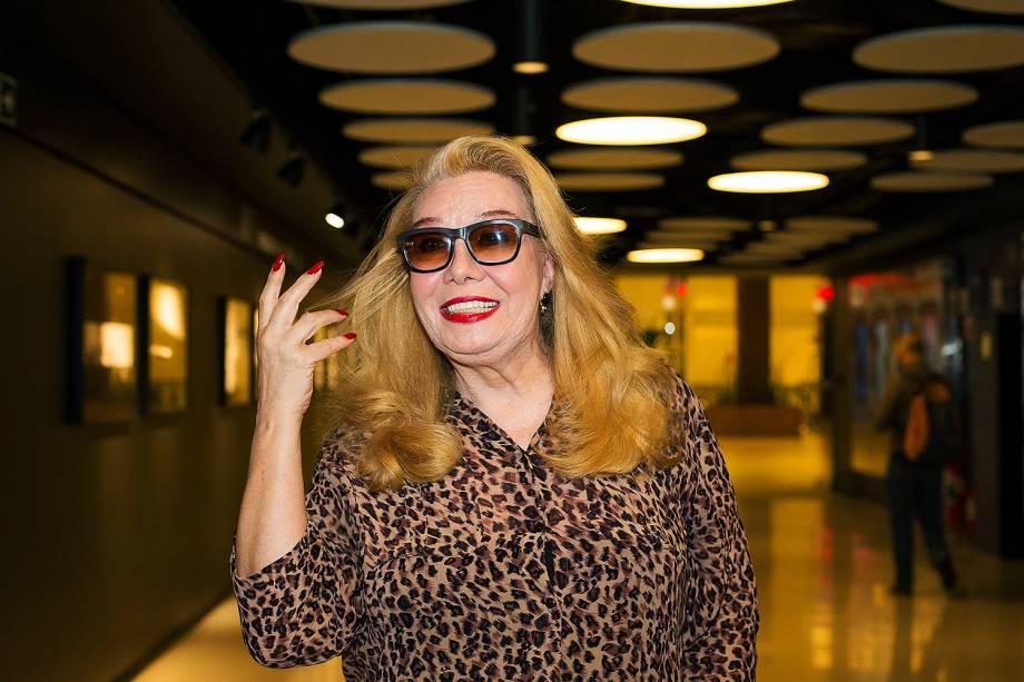 """A artista Rogéria na pré-estreia e debate, promovido pela Folha, do filme """"Divinas Divas"""" no Espaço Itaú Frei Caneca em São Paulo - 19/06/2017"""
