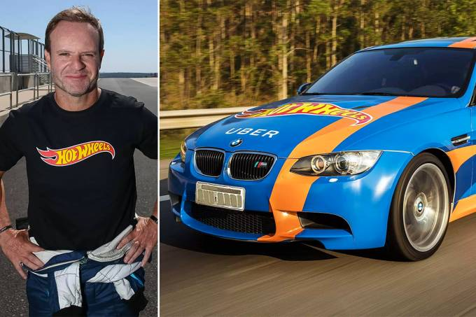 Rubens Barrichello vira motorista do Hot Wheels Uber