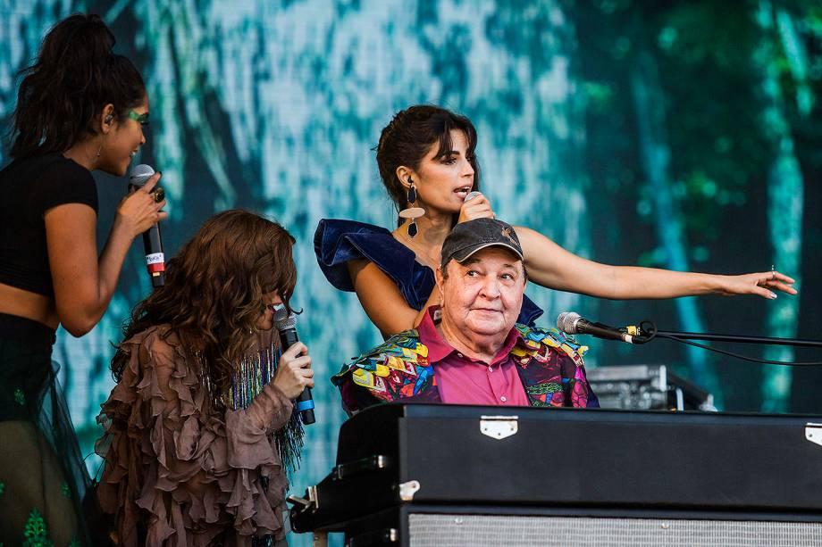 Lucy Alves, Emanuele Araújo, Tie e Mariana Aydar fazem homenagem para João Donato, no segundo dia do Rock in Rio no Parque Olímpico no Rio de Janeiro - 16/09/2017
