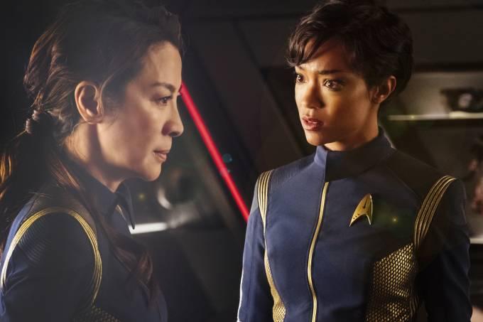 Michelle Yeoh e Sonequa Martin-Green em 'Star Trek: Discovery'