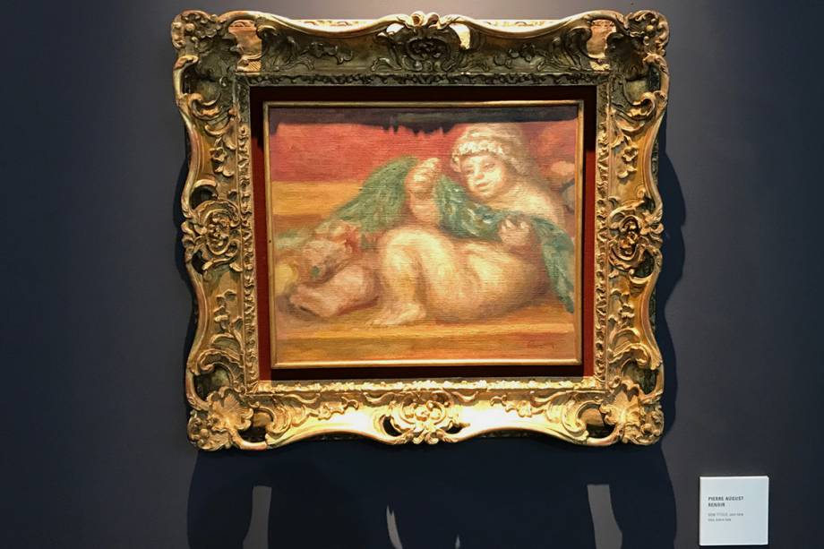 Tela sem título, de Renoir, avaliada em 2 milhões de reais, na galeria Pinakotheke