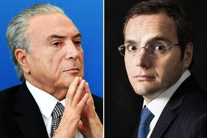 Michel Temer e Lúcio Funaro